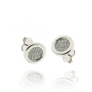 Brincos de prata rodeada...