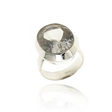 Anel de prata rodeada com...