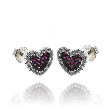Brincos de corações prata...