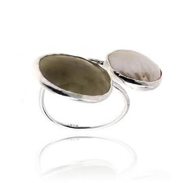 Anel exclusivo de prata com...