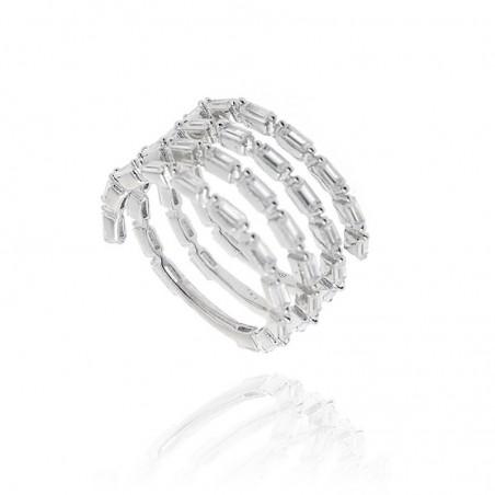 Anel de prata rodeada com pedras zircónias
