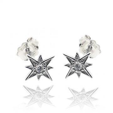 Brincos estrelas de prata...