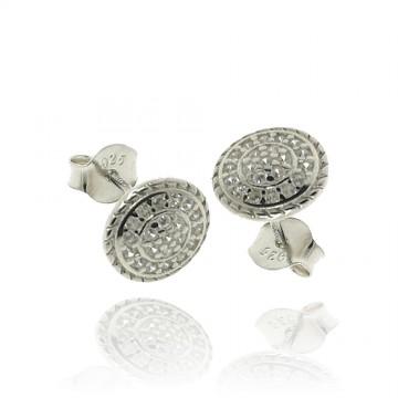Brincos em prata rodeada...